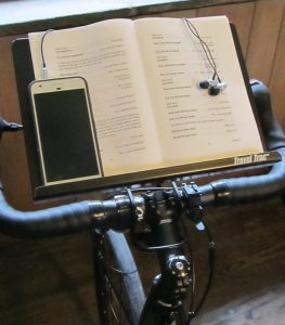 Book Stand on Bike Trainer