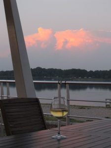 Wine on Barge Deck
