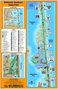 Delaware Seashore SP Map