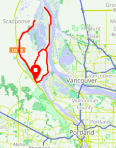Map - Sauvie Island Ride