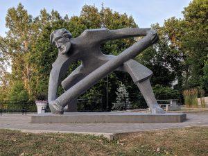 Logger Statue