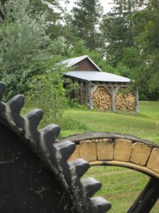 Woodpile and Wheel
